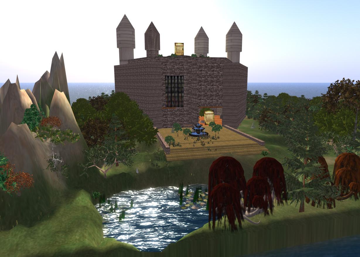 Das Alchemistenschloss liegt inmitten eines magischen Gartens.