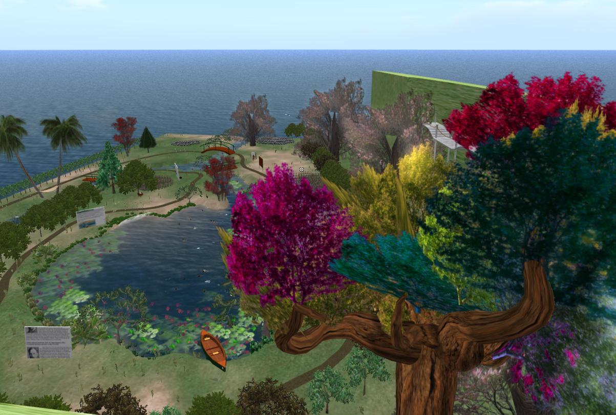 Monets Garten erstrahlt auch virtuell in seiner ganzen Farbenpracht.